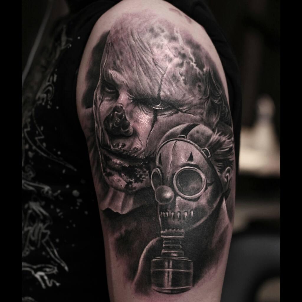Zombie Apocalypse Tattoo on Shoulder
