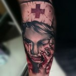Zombie Nurse Tattoo