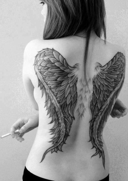 tattoo angel on back