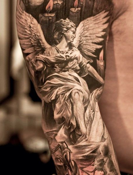 angel tattoo by Niki Norberg