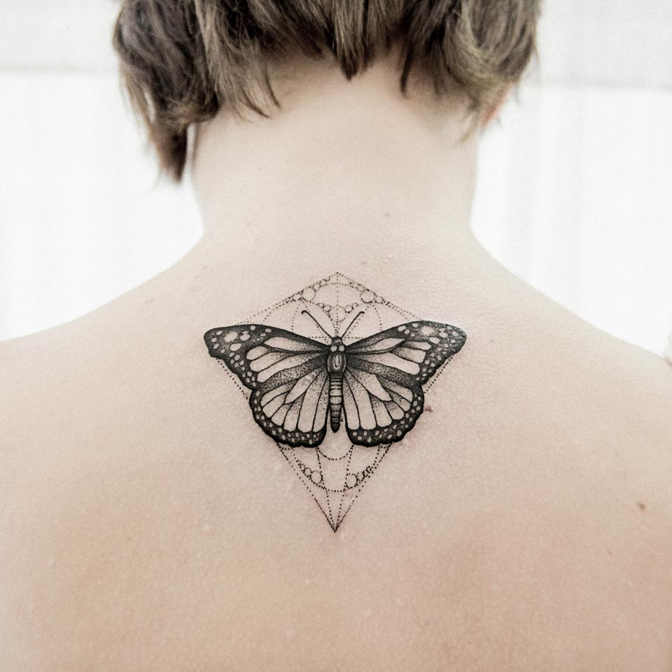 butterfly simetry tattoo