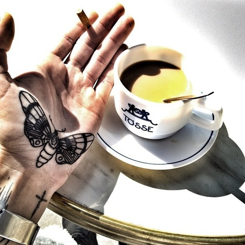 cofe and tattoo