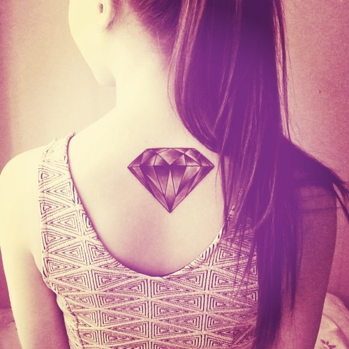 graphic diamond tattoo