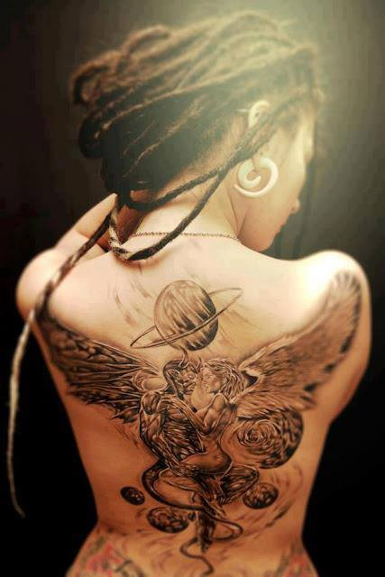 love angel tattoo