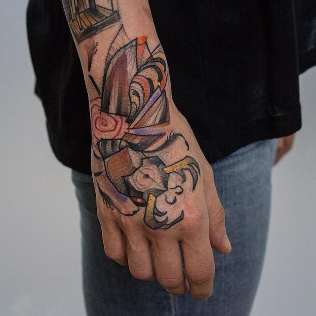 Stag Beetle Tattoo