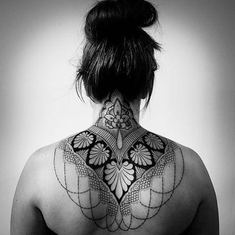 Back Neck Tattoo