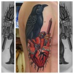 Bird Heart Tattoo