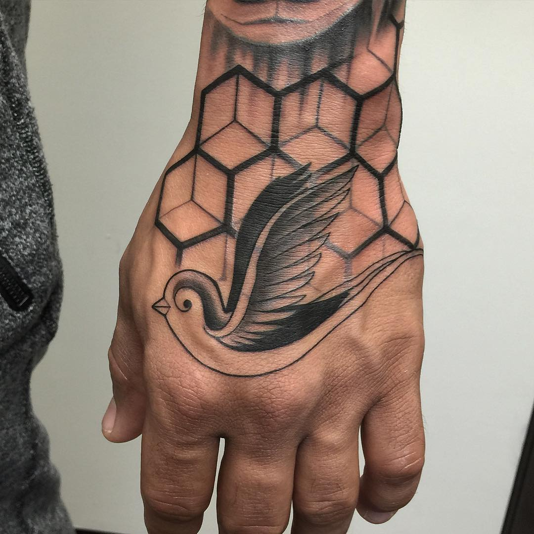 Bird Tattoo on Hand