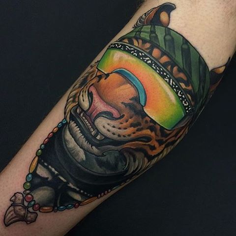 Cool Tiger Tattoo