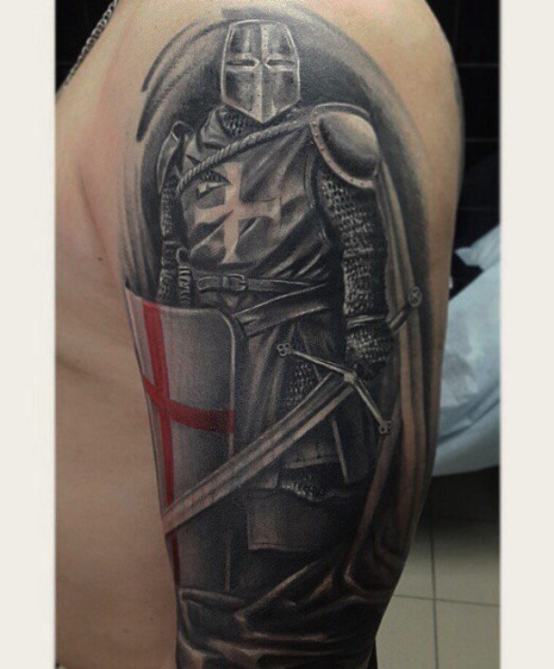 Crusader Tattoo Designs