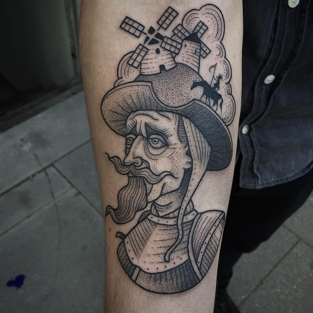 Don Quixote Tattoo on Arm