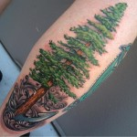Fir Tree Tattoo