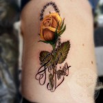 Forever Living Rose Tattoo