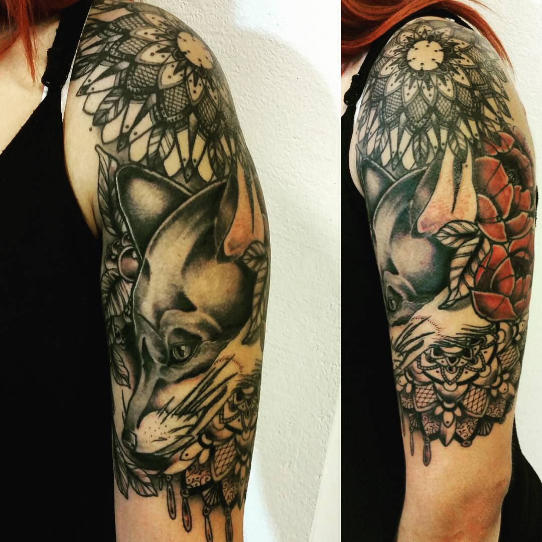 Fox Shoulder Tattoo