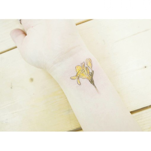 Freesia Flower Tattoo