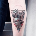 Heart Flower Tattoo