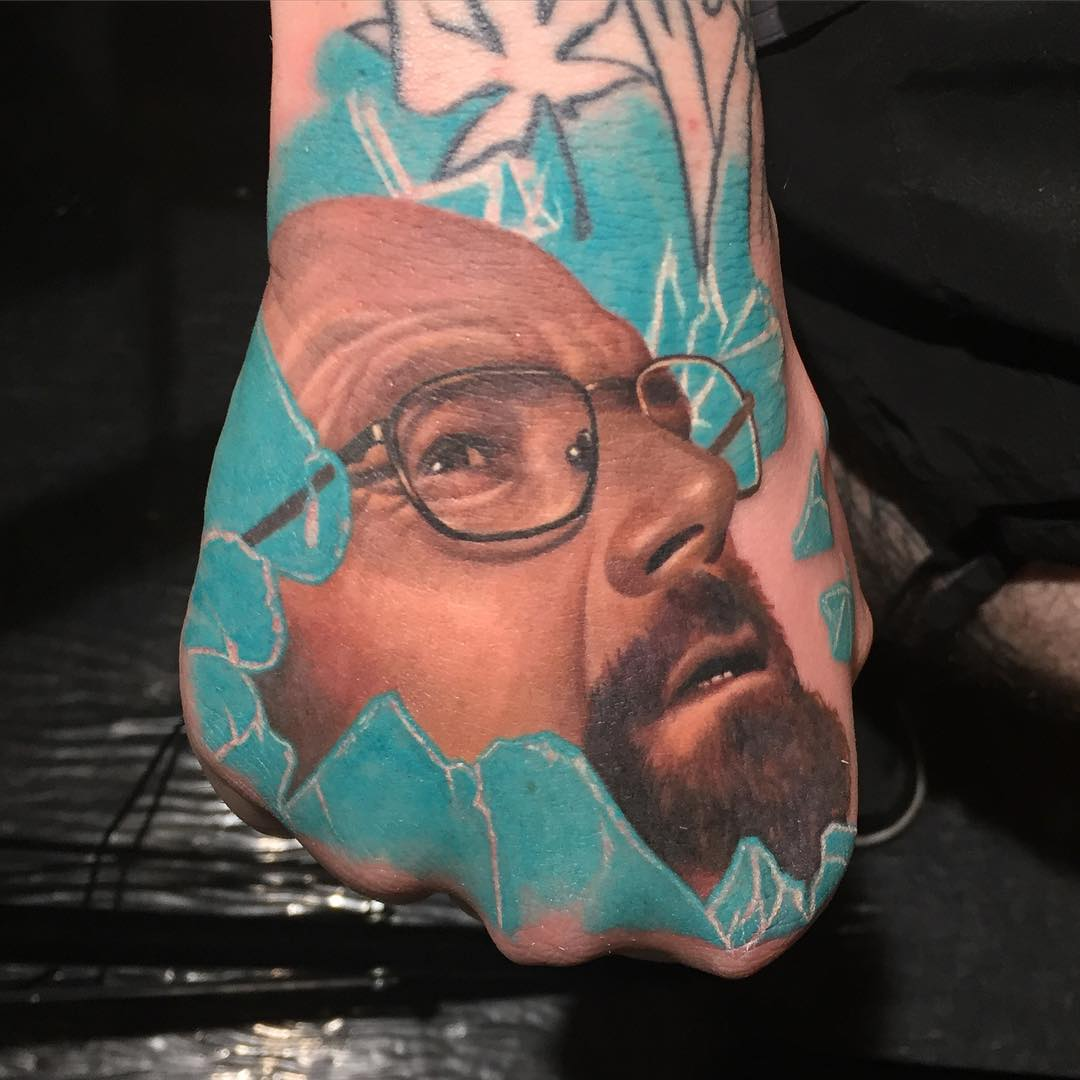 Heisenberg Tattoo on Hand
