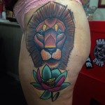 Lion Tattoo Hip