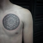 Mandala Chest Tattoo