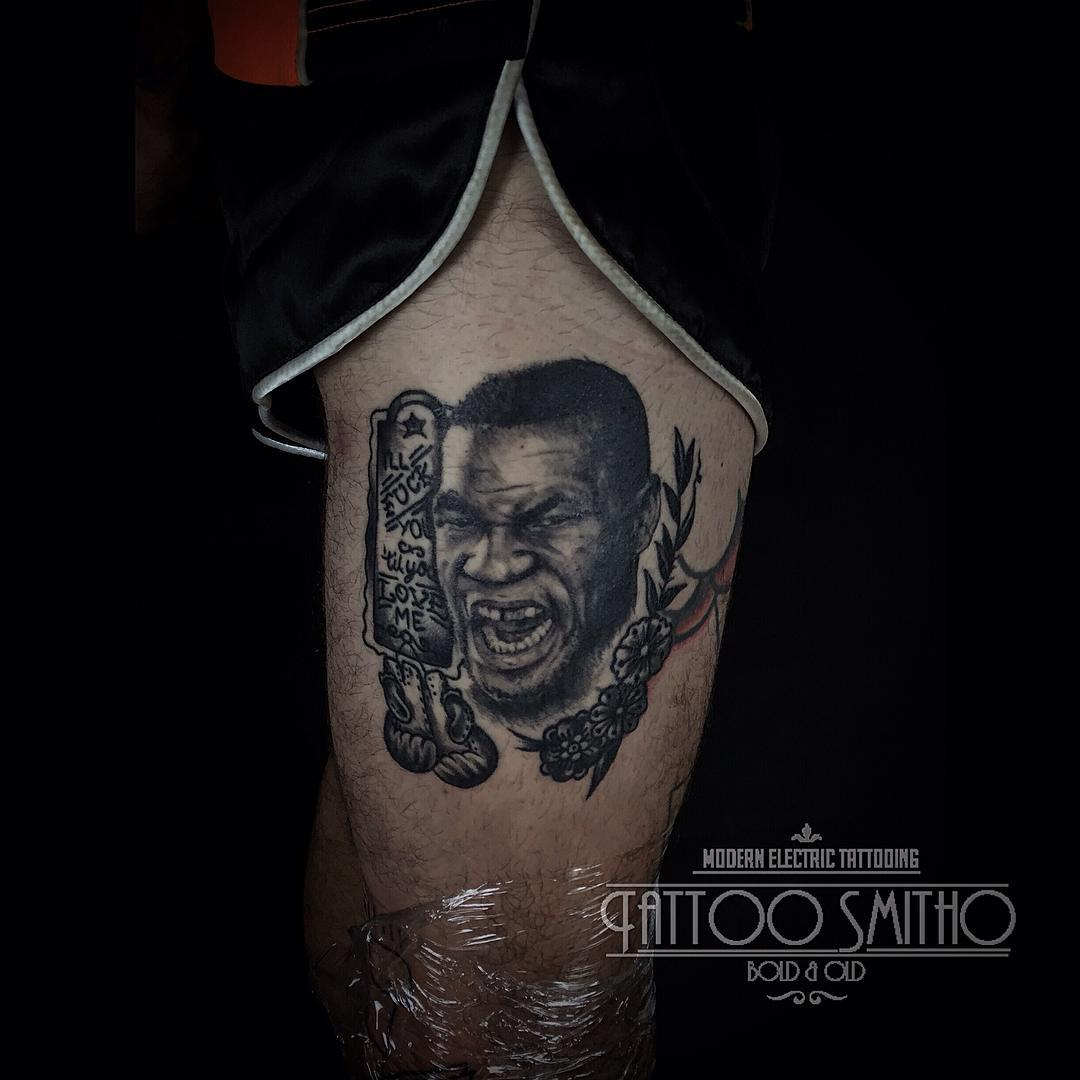 Mike Tyson Portrait Tattoo