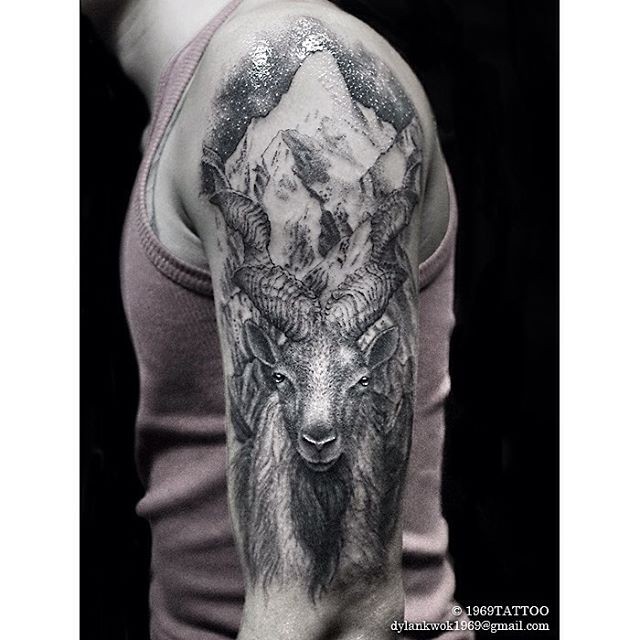 Mountain Goat Tattoo