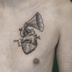Music Heart Tattoo