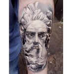 Neptune Tattoo on Arm
