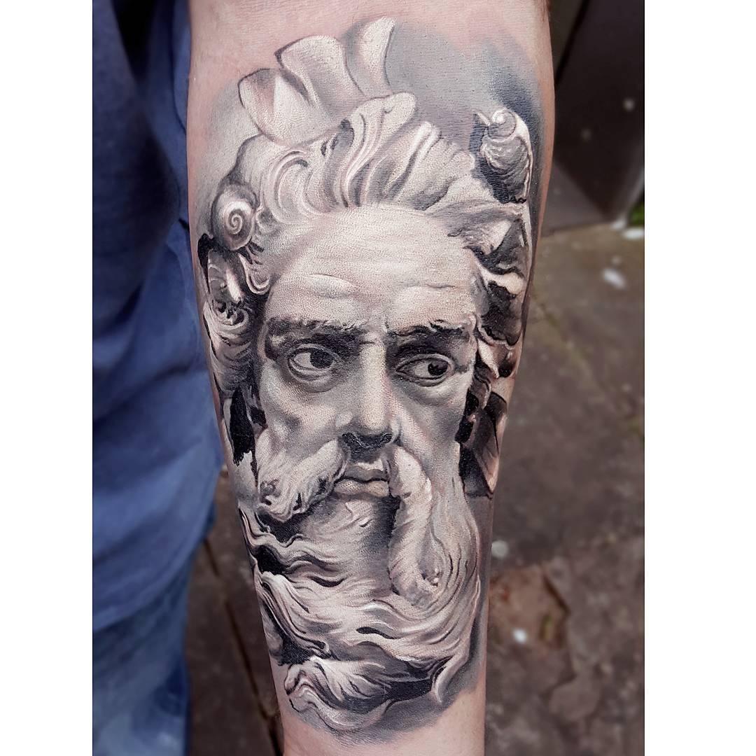 Neptune Tattoo on Arm | Best Tattoo Ideas Gallery