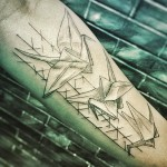 Origami Tattoo on Arm