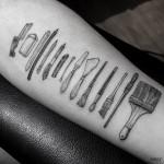 Painter Tools Tattoo on Arm