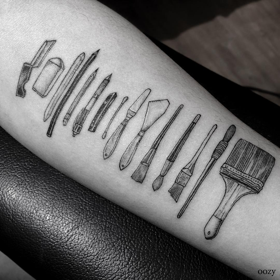 Painter Tools Tattoo on Arm
