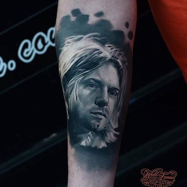 Portrait Kurt Cobain Tattoo