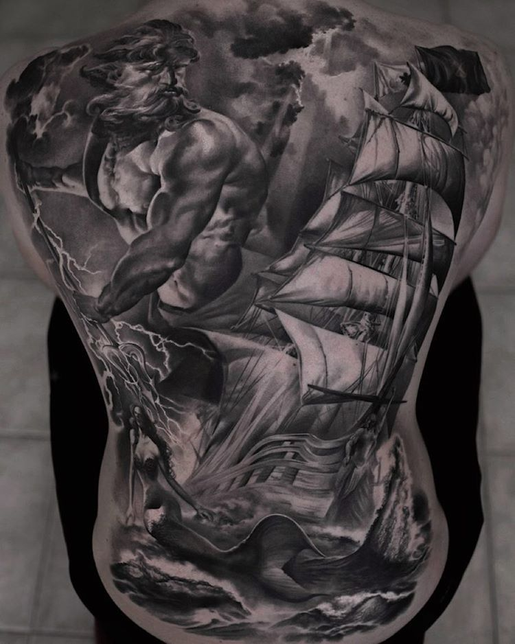 Poseidon Tattoo Best Tattoo Ideas Gallery