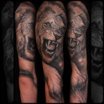 Realistic Lion Tattoo