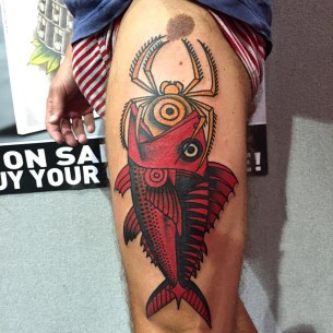 Thigh tattoos best tattoo ideas gallery part 5 for Red fish tattoo
