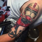 Red Trooper Star Wars Tattoo