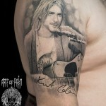 Shoulder Portrait Kurt Cobain Tattoo