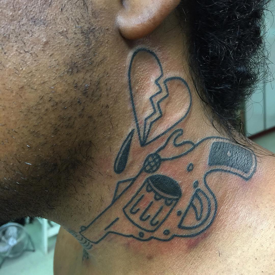 Simple Neck Tattoo