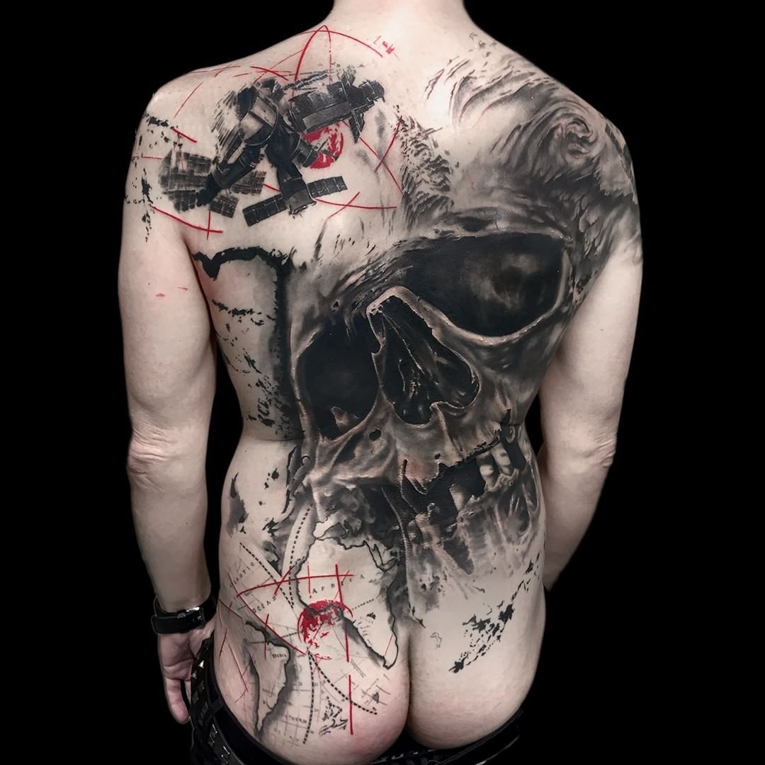 Skull Back Tattoo