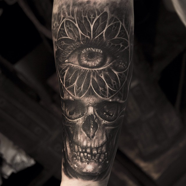 Skull Eye Tattoo