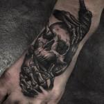 Skull Tattoo on Foot