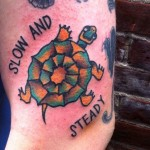 Slow and Steady Turtle Tattoo