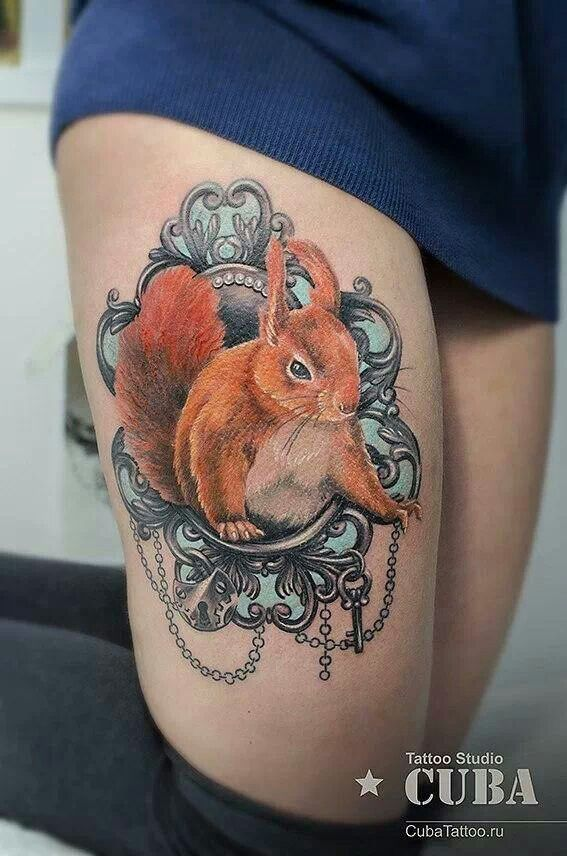 Squirrel tattoo6