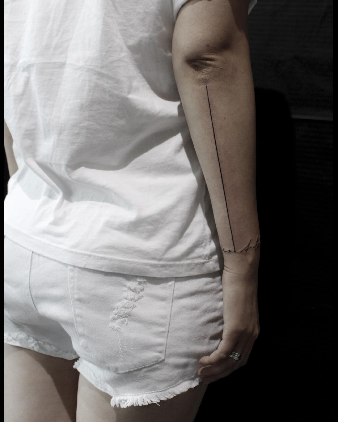 Thin Line Tattoo