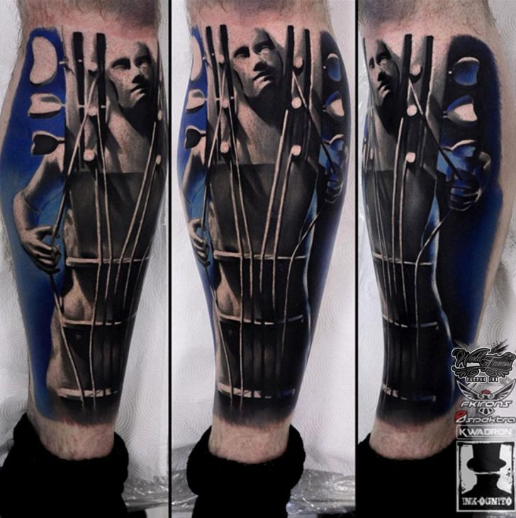art guitar tattoo