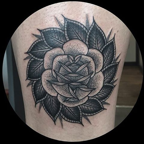 Traditional Tattoo Rose