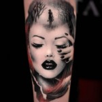 Woman Portrait Tattoo