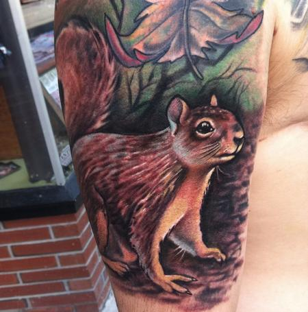 japan Squirrel tattoo