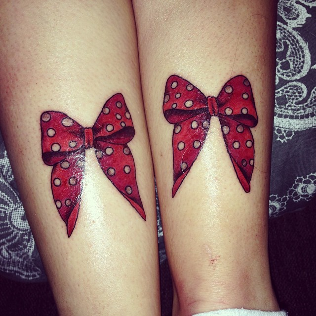 double bowtie tattoos