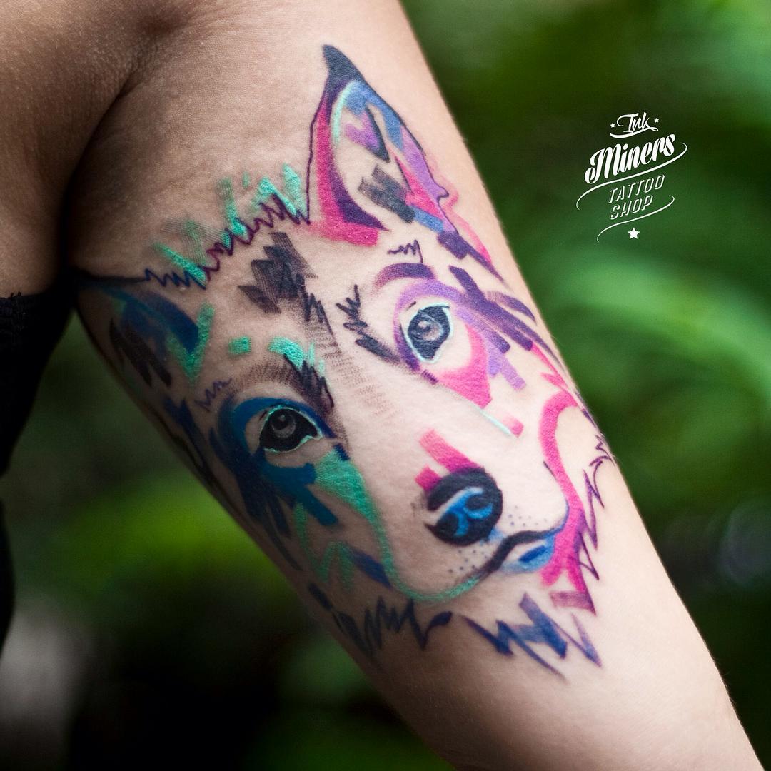 Dog Face Tattoo